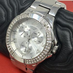 Guess Steel Gemmed Chrono Stainless Women's Watch